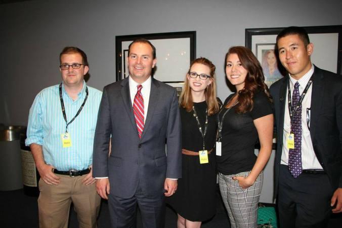The CU Students meet US Senator Mike Lee.