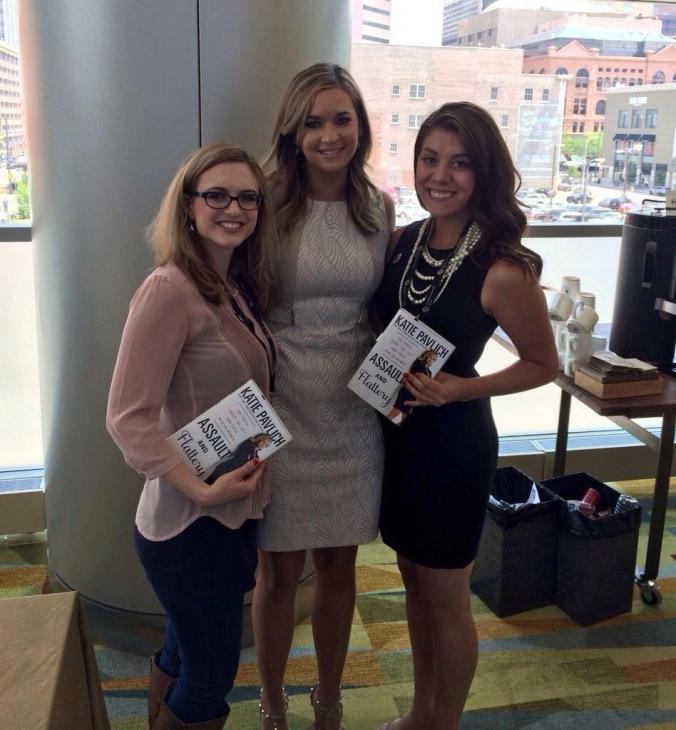 From left: Elly Steinmetz, Katie Pavlich, Ariana Busby