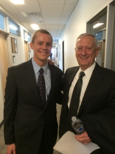 General Mattis with author, Zachary McArthur